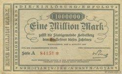 1 Million Mark ALLEMAGNE Heidelberg 1923  TTB