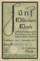 5 Millions Mark ALLEMAGNE Heidelberg 1923  SPL