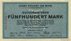 500 Mark ALLEMAGNE Hochst 1922  SUP