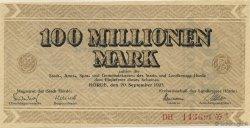 100 Millions Mark ALLEMAGNE  1923  SPL