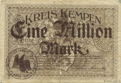 1 Million Mark ALLEMAGNE Kempen 1923  B