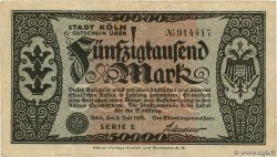 50000 Mark ALLEMAGNE Köln 1923  pr.TTB