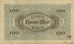 100 Mark ALLEMAGNE Köln 1922  TTB