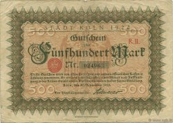 500 Mark ALLEMAGNE Köln 1922  TB