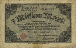 1 Million Mark ALLEMAGNE Köln 1923  TB