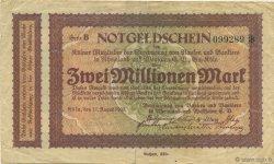 2 Millions Mark ALLEMAGNE Köln 1923  TB+