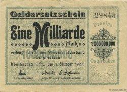 1 Milliard Mark ALLEMAGNE  1923  TTB