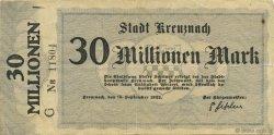 30 Millions Mark ALLEMAGNE Kreuznach 1923  TTB