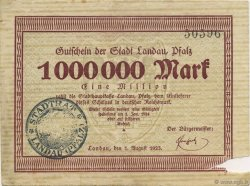 1 Million Mark ALLEMAGNE Landau Pfalz 1923  TB