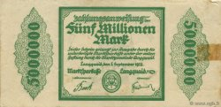 5 Millions Mark ALLEMAGNE Langquaid 1923  TB+