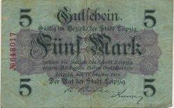 5 Mark ALLEMAGNE Leipzig 1918  TB+
