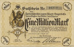 1 Million Mark  ALLEMAGNE Leverkusen 1923  TTB
