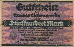 500 Mark ALLEMAGNE Liebenwerda 1922  B