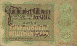 500 Millions Mark ALLEMAGNE Ludwigshafen 1923  TTB