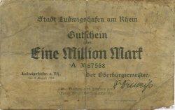 1 Million Mark ALLEMAGNE Ludwigshafen 1923  B+