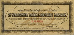 20 Millions Mark ALLEMAGNE Ludwigshafen 1923  TTB