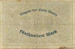 500 Mark ALLEMAGNE Mainz-Mayence 1922  TB