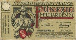 50 Milliards Mark ALLEMAGNE  1923  TB