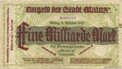 1 Milliard Mark ALLEMAGNE  1923  B+