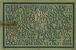 10 Mark ALLEMAGNE Marburg 1918  TTB