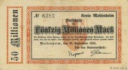 50 Millions Mark ALLEMAGNE Meisenheim 1923  TTB