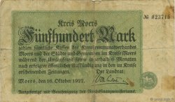 500 Mark ALLEMAGNE Moers 1922  TB