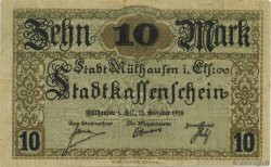 10 Mark ALLEMAGNE Mulhouse 1918  TTB+