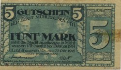 5 Mark ALLEMAGNE Mulhouse 1918  TB