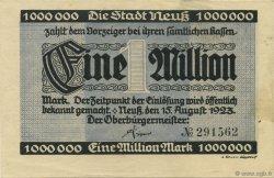 1 Million Mark ALLEMAGNE Neuss 1923  SUP