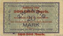 200000 Mark ALLEMAGNE Neuwied 1923  pr.TTB