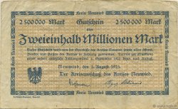 2,5 Millions Mark ALLEMAGNE  1923  TB+