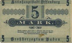 5 Mark ALLEMAGNE Offenburg 1918  TTB