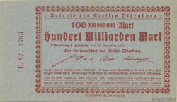 100 Milliards Mark ALLEMAGNE Oldenburg 1923  pr.NEUF