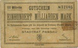 100 Milliards Mark ALLEMAGNE  1923  TB