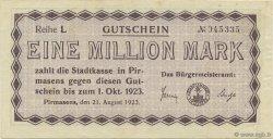 1 Million Mark ALLEMAGNE Pirmasens 1923  SUP
