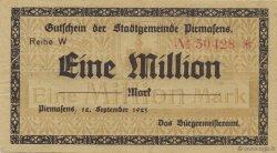 1 Million Mark ALLEMAGNE Pirmasens 1923  TTB+