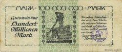 100 Millions Mark ALLEMAGNE  1923  TTB