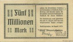 5 Millions Mark ALLEMAGNE  1923  pr.TTB
