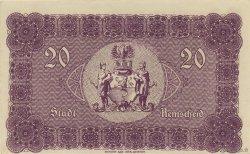 20 Mark ALLEMAGNE Remscheid 1918  pr.NEUF