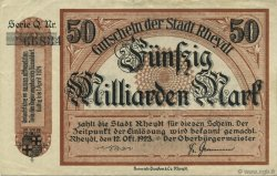 50 Milliards Mark ALLEMAGNE  1923  TTB+