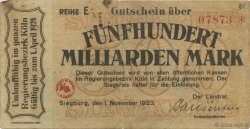 500 Milliards Mark ALLEMAGNE  1923  TB+