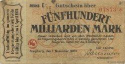 500 Milliards Mark ALLEMAGNE  1923  TB+