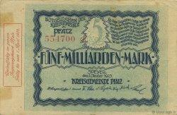 5 Milliards Mark ALLEMAGNE  1923  TTB