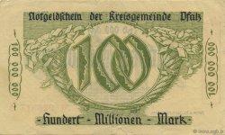 100 Millions Mark ALLEMAGNE  1923  TTB+