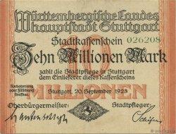10 Millions Mark ALLEMAGNE Stuttgart 1923  TTB