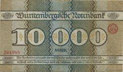 10000 Mark ALLEMAGNE Stuttgart 1923  TTB