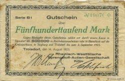 500000 Mark ALLEMAGNE Troisdorf 1923  TB