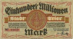 100 Million Mark ALLEMAGNE Trier - Trèves 1923  TB+