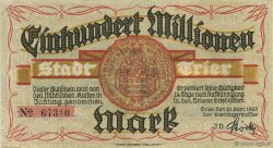 100 Million Mark ALLEMAGNE Trier - Trèves 1923  SUP