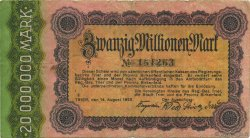 20 Millions Mark ALLEMAGNE Trier - Trèves 1923  TB